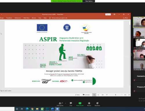 Noi oportunități de (re)inserție pe piața muncii pentru absolvenți prin intermediului proiectului ASPIR