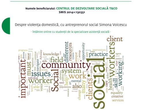 Despre violența domestică, cu antreprenorul social Simona Voicescu